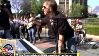Telediario - Noel Schajris testigo de una balacera en Monterrey