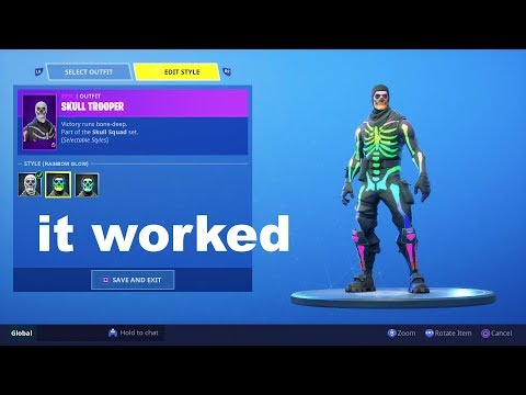 So I Tried Unlocking Rainbow Skull Trooper Using A Fortnite GLITCH And Got This...