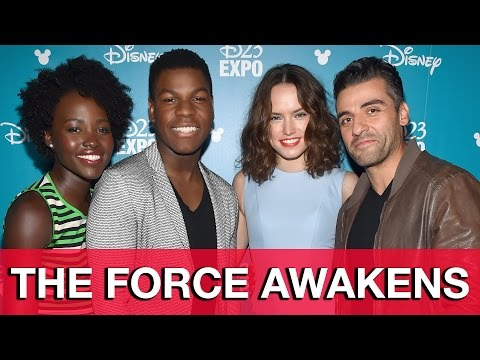 Star Wars: The Force Awakens Interviews - Daisy Ridley, John Boyega, Lupita Nyong'o, Oscar Isaac