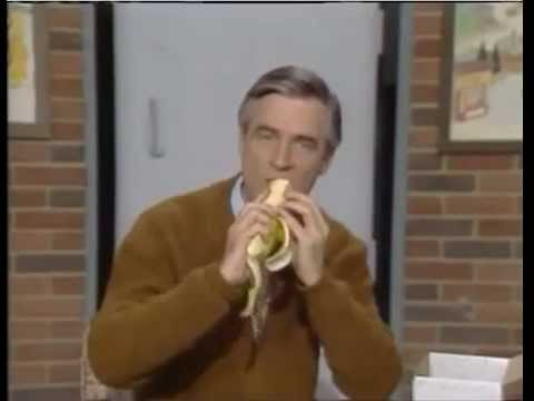 Ellen K Weekend Show - Mr. Rogers Eating A Banana With Cheese