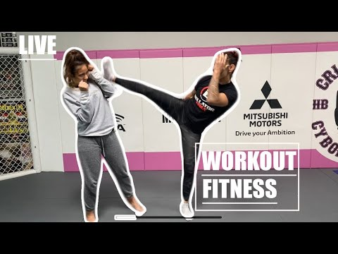 Cris cyborg in house workout fitness YouTube live: #AloneTogether CBS Viacom Paramount Bellator MMA