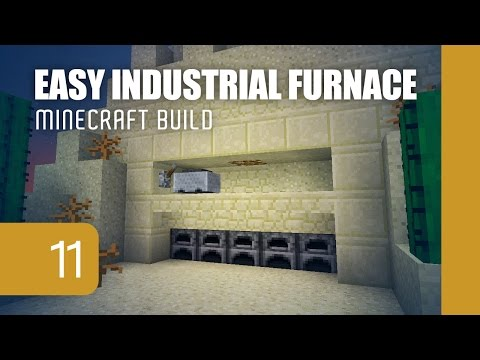 Minecraft's Smallest Semi-Auto Industrial Furnace [1.11]
