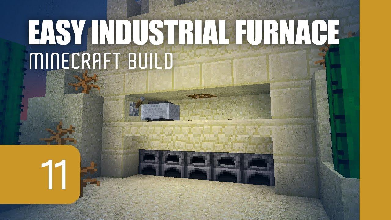 Minecraft's Smallest Semi-Auto Industrial Furnace [1.11 ...