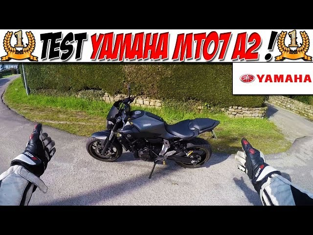 #MotoVlog 32 : TEST YAMAHA MT07 A2 / LA MEILLEURE MOTO A2 !!!!!