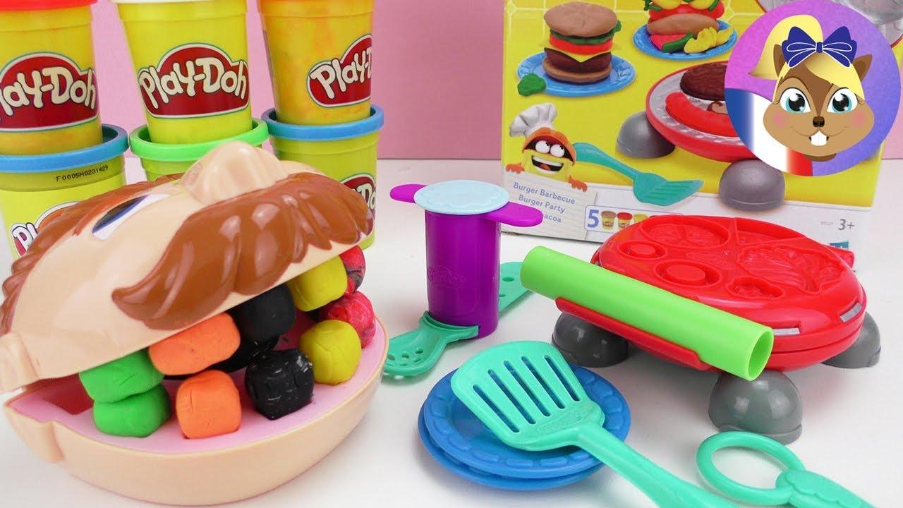 Cuisine Play Doh Creators Burger Party Unboxing Avec Notre Patient