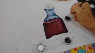 Roberto Ferreira – Pintura em tecido Transparência em Vidro e Bíblia