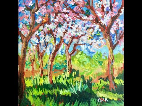 Monet's Spring Apple Blossoms by Ginger Cook