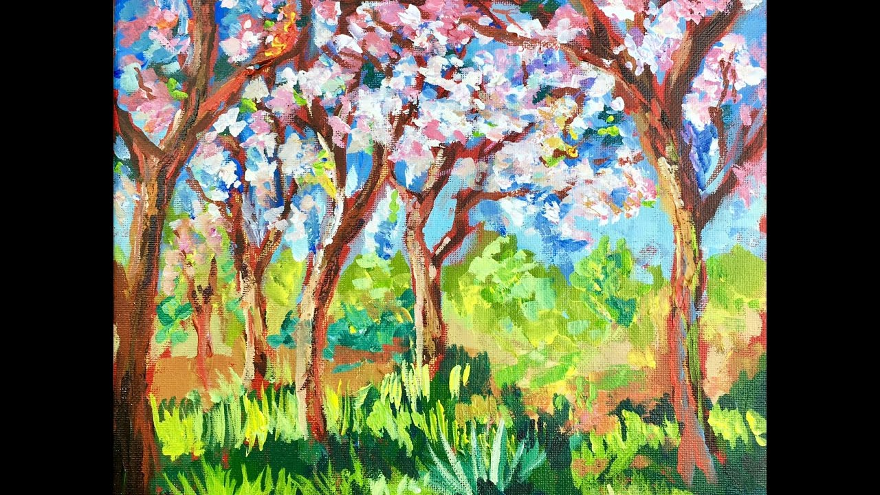Monets Spring Apple Blossoms By Ginger Cook Youtube