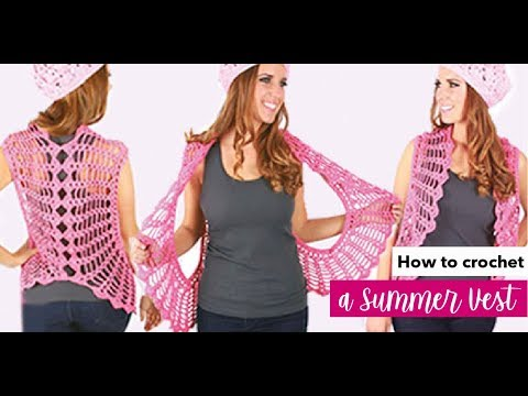 HOW TO CROCHET A SUMMER VEST - EASY AND FAST - BY LAURA CEPEDA