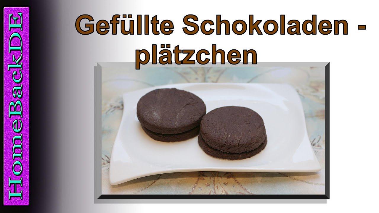 Weihnachtsplätzchen Schokoladenplätzchen.Gefüllte Schokoladenplätzchen Backanleitung Von Homebackde