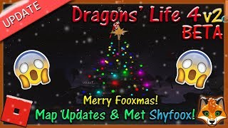 Roblox - Dragons' Life 4 v2 BETA - Merry Fooxmas & Met Shyfoox! #23 - HD