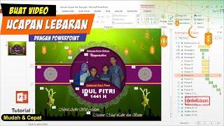 Cara Membuat Video Ucapan Selamat Hari Raya Idul Fitri 1441 H Dengan Powerpoint | Free Template Ppt
