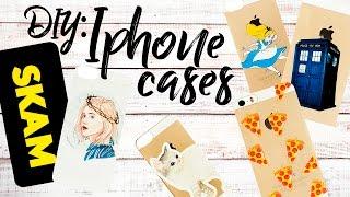 DIY Tumblr Inspired Iphone Cases|Украшение чехлов для телефона| SKAM
