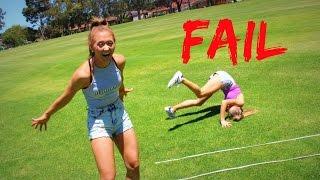 Dizzy Cartwheel Challenge! | The Rybka Twins