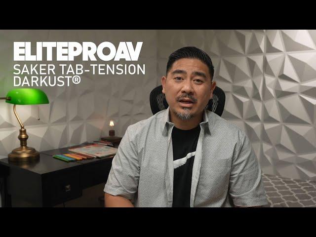 Joe N Tell Reviews Elite ProAV's Saker Tab-Tension DarkUST | Motorize Ceiling Light Rejecting Screen