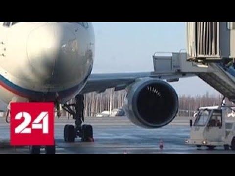 Видео ГИБДД-ДПС.РФ: В Пулкове женщина упала с трапа самолета - Россия 24 1
