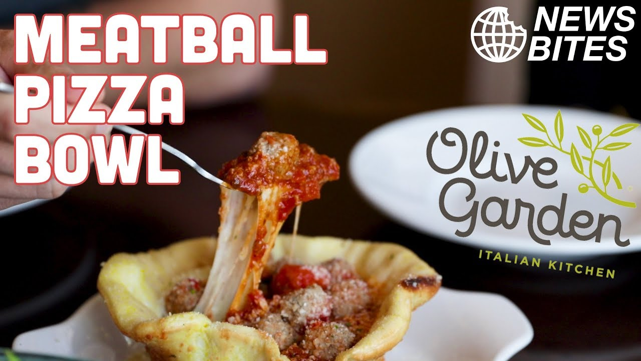 new olive garden meatball pizza bowl is insane news bites - Olive Garden Pizza