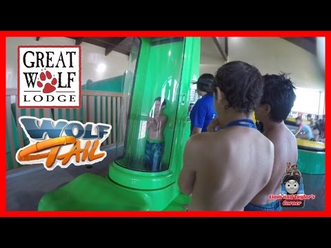 Great Wolf Lodge Wolf Tail Water Slide Launch Pod Floor Drop