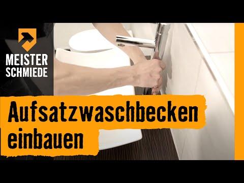 waschbecken montieren aufsatzwaschbecken einbauen hornbach meisterschmiede youtube. Black Bedroom Furniture Sets. Home Design Ideas