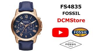 FS4835 Fossil Grant Blue Dial and Leather ...... DCMStore