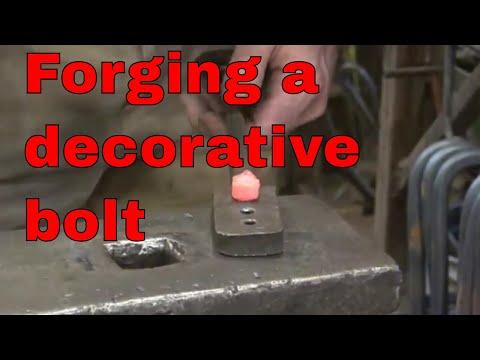 Forging a bolt, nut and washer - basic blacksmithing exercise