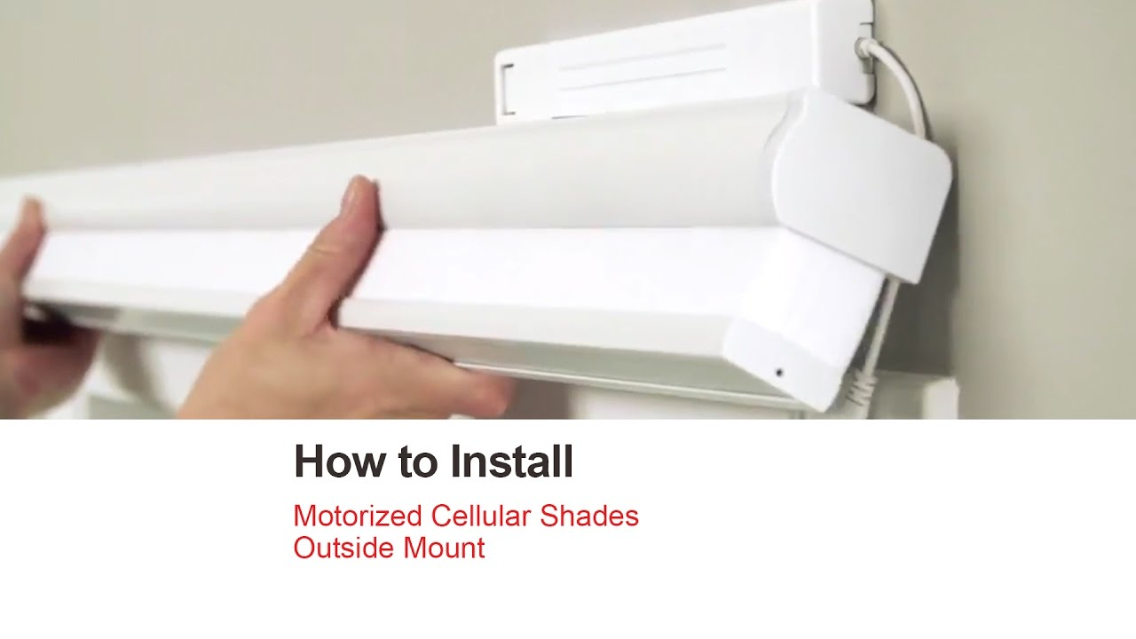 Bali Blinds How To Install Motorized Cellular Shades Outside Mount