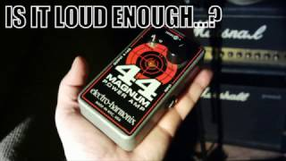 Electro-Harmonix 44Magnum test in band environment