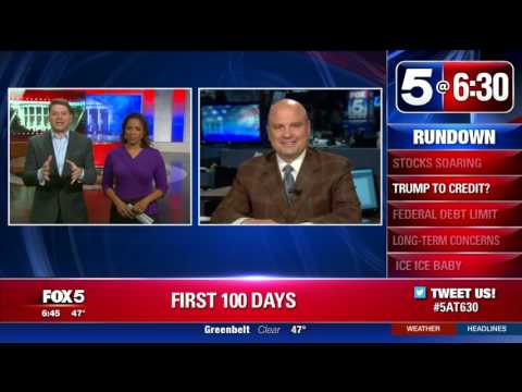 Fox5: Record High Stock Market Gains as Dow Closes Above 21,000