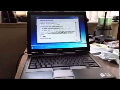 Installing windows 7 on a dell latitude d630 youtube.