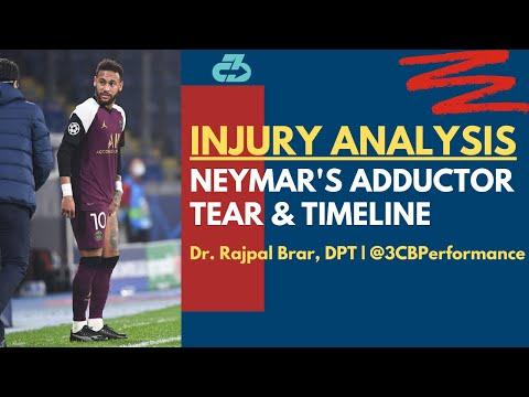 [OC] Explaining Neymar's adductor tear injury, return timeline and a key silver lining
