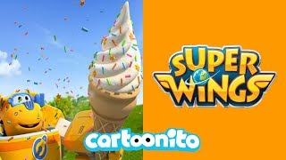 Super Wings | The Giant Ice Cream Baby | Cartoonito UK