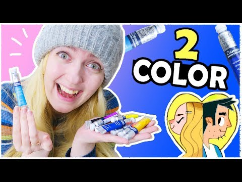 2 COLOR CHALLENGE with WATERCOLORS!