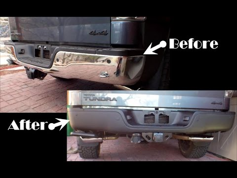 Tundra Rear Bumper Removal, Plasti Dip and Rust Repair