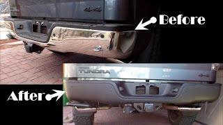 Tundra Rear Bumper Removal, Plasti Dip and Rust Repair