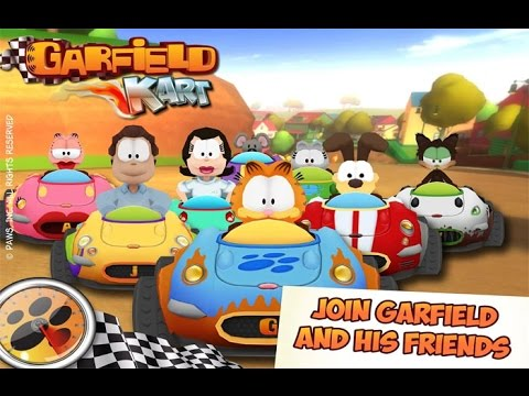 Garfield Kart Race Android İos Free Game GAMEPLAY VİDEO