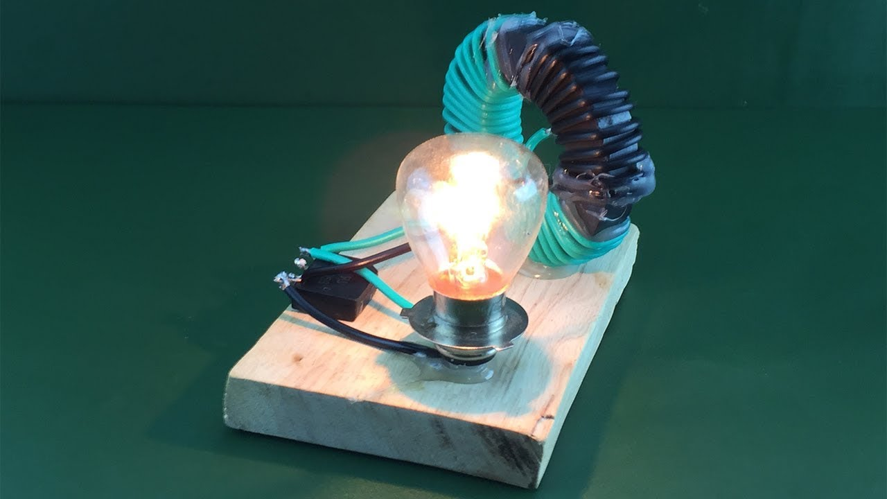 New free energy electricity using magnet with coil , DIY science project experiment at home