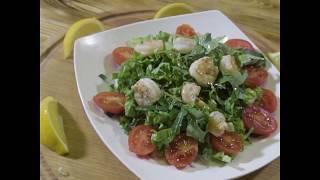 """Рецепт """"Салат из креветок с томатами черри"""" Food for fit"""
