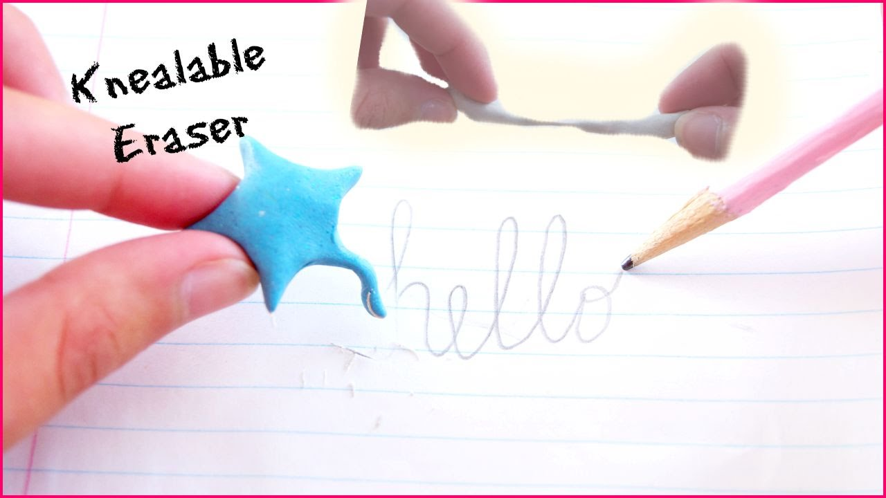 DIY Kneadable Erasers~Quick and Easy|Back 2 School