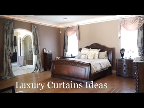 Luxury Curtains Ideas For Custom Drapes In A Master Bedroom. | Galaxy-Design Video #149
