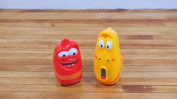 고고씽 라바 풀백 장난감, 레드 옐로우, 작동완구, 아이들 장난감, 움직이는 라바