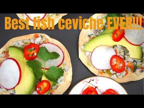 HOW TO Make FISH CEVICHE | SWAI FISH Ceviche | Ceviche TOSTADA | CITRUS Fish Ceviche | SWAI FISH