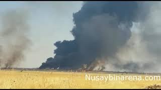 Suriye'de petrol kuyularında yangın çıktı