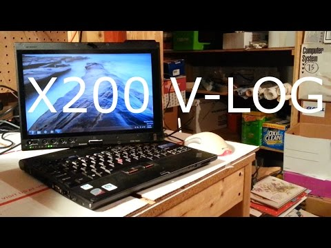 V-Log: ThinkPad X200 Tablet + Using Windows 8 in 2017