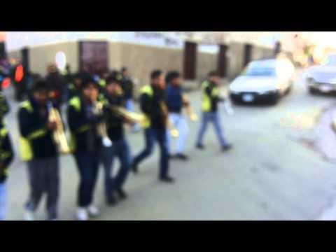 Banda Union Juvenil junto a la diablada Asuncion