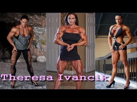 Theresa Ivancik monumental American bodybuilder | from teenage until today