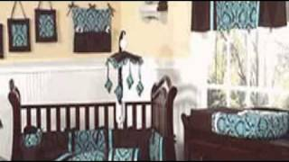 Bella Turquoise And Chocolate Baby Bedding By Jojo Designs