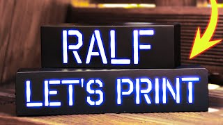 3D Printed Name Sign With LED Lights - Gift Idea or Decoration Table Lamp - Smooth 3D Printed Parts