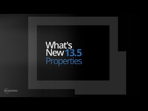 What's New in Remote Desktop Manager 13.5 - Credential Properties