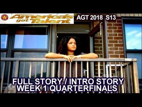 Amanda Mena 15 Year Old FULL STORY / INTRO STORY America's Got Talent 2018 QUARTERFINALS 1 AGT