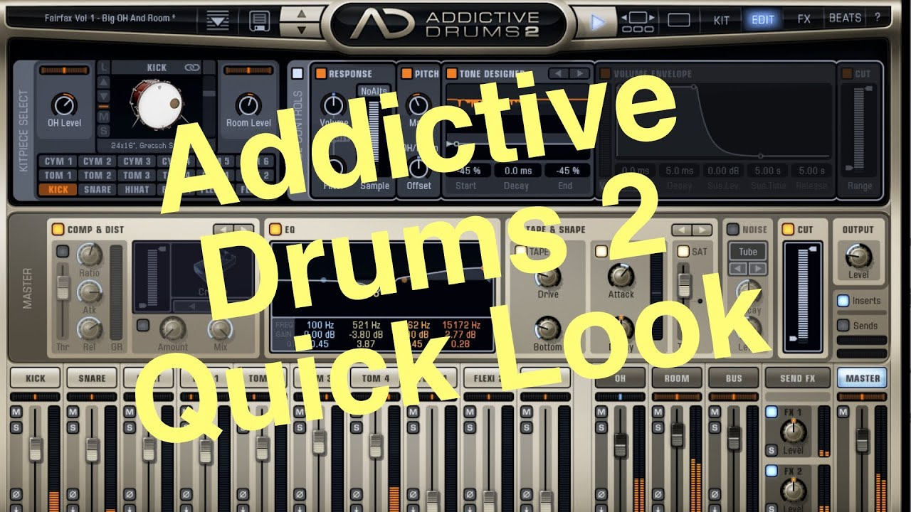 addictive drums 2 a first look review fairfax kit youtube. Black Bedroom Furniture Sets. Home Design Ideas